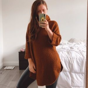 Neutral B. young oversize Knit Turtleneck